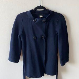 J Crew navy cotton button blazer jacket